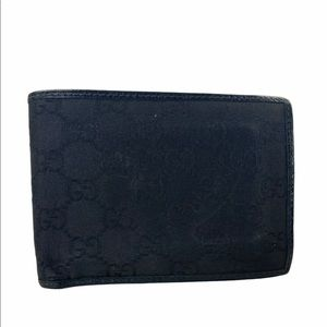 Gucci Wallet Leather Canvas Card Holder